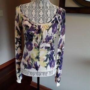 Elie Tahari scoop neck silk sweater, Size Small